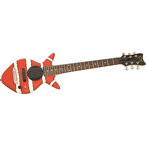 Goldfish Guitars Juba Clownfish Electric Guitar with Speaker-thumbnail