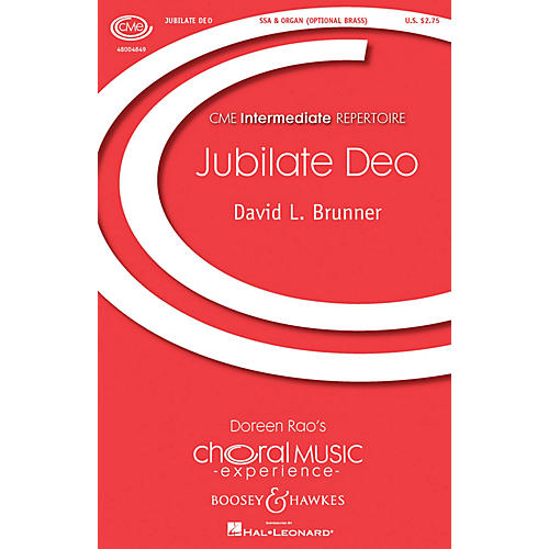 Boosey and Hawkes Jubilate Deo (SSA and Organ) SSA composed by David Brunner-thumbnail