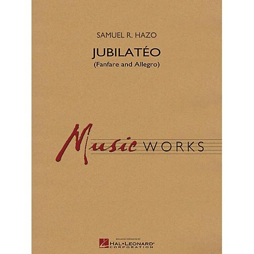 Hal Leonard Jubilatéo (Fanfare and Allegro) Concert Band Level 5 Composed by Samuel R. Hazo-thumbnail