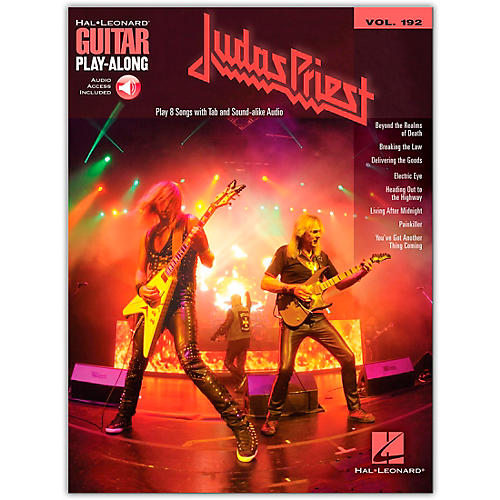 Hal Leonard Judas Priest Guitar Play-Along Series Softcover Audio Online Performed by Judas Priest-thumbnail