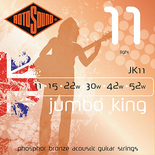 Rotosound Jumbo King Light Phosphor Bronze Acoustic Guitar Strings