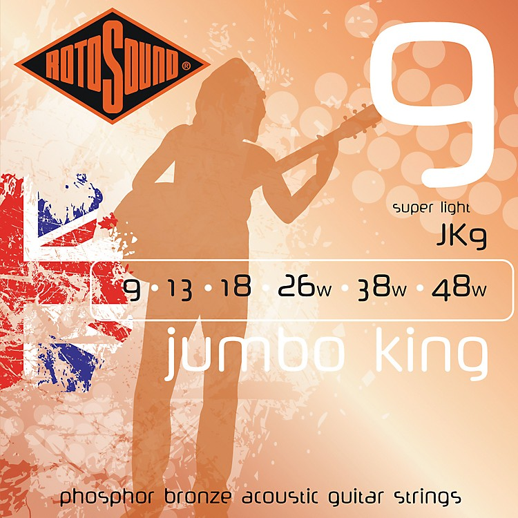 Rotosound Jumbo King Super Light Phosphor Bronze Acoustic Guitar Strings