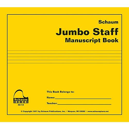 SCHAUM Jumbo Staff Manuscript Book Educational Piano Series Softcover-thumbnail