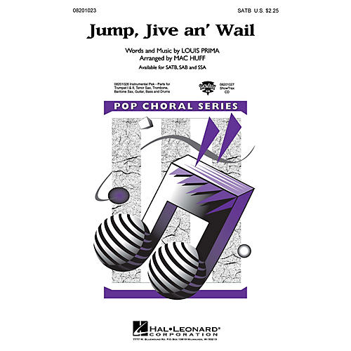 Hal Leonard Jump, Jive an' Wail SAB by The Brian Setzer Orchestra Arranged by Mac Huff-thumbnail