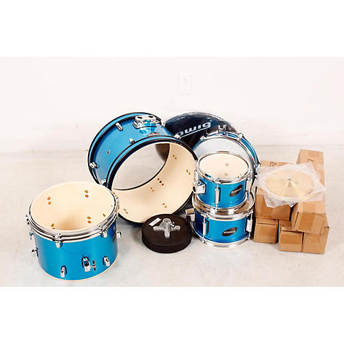 open box ludwig junior outfit drum set blue 190839060037 musician 39 s friend. Black Bedroom Furniture Sets. Home Design Ideas