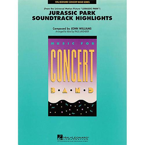 Hal Leonard Jurassic Park Soundtrack Highlights Concert Band Level 4 Arranged by Paul Lavender