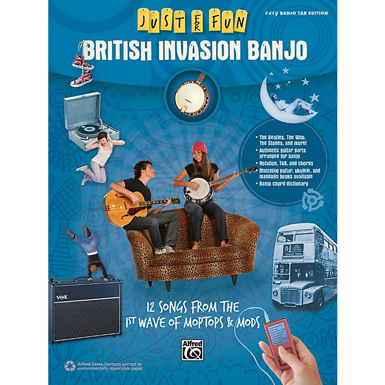 Alfred Just for Fun British Invasion Banjo Book