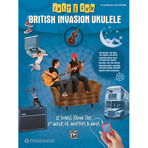 Alfred Just for Fun British Invasion Ukulele Book