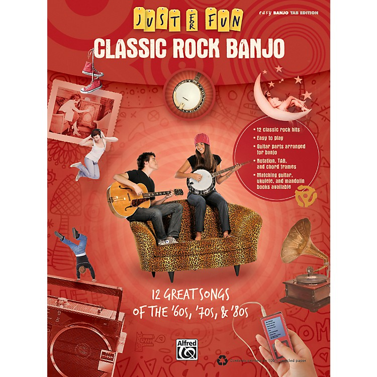 Alfred Just for Fun: Classic Rock Banjo Tab Book