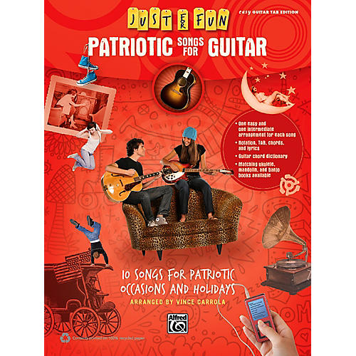 Alfred Just for Fun Patriotic Songs for Guitar Easy TAB Book
