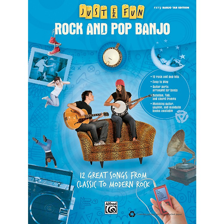 AlfredJust for Fun: Rock and Pop Banjo (Book)