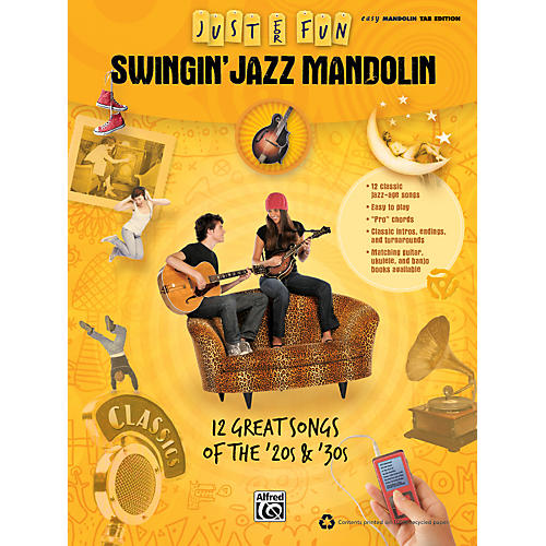 Alfred Just for Fun: Swingin' Jazz Mandolin (Book)-thumbnail