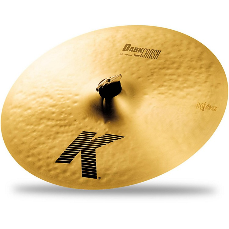 Zildjian K Dark Thin Crash Cymbal  15 Inches