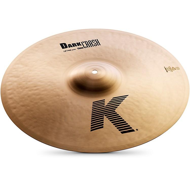 ZildjianK Dark Thin Crash Cymbal18 Inches