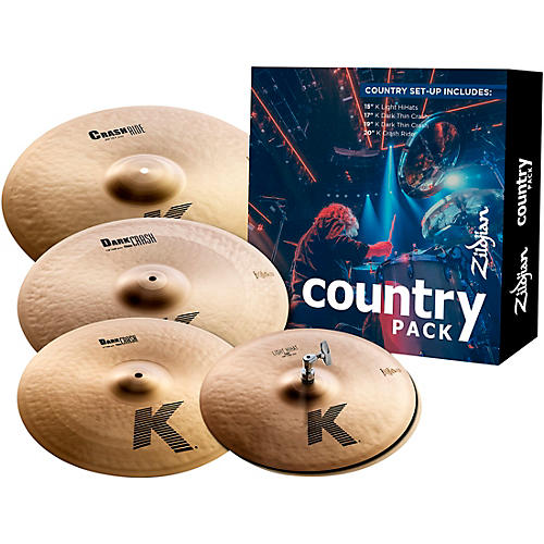zildjian k series cymbal pack country musician 39 s friend. Black Bedroom Furniture Sets. Home Design Ideas