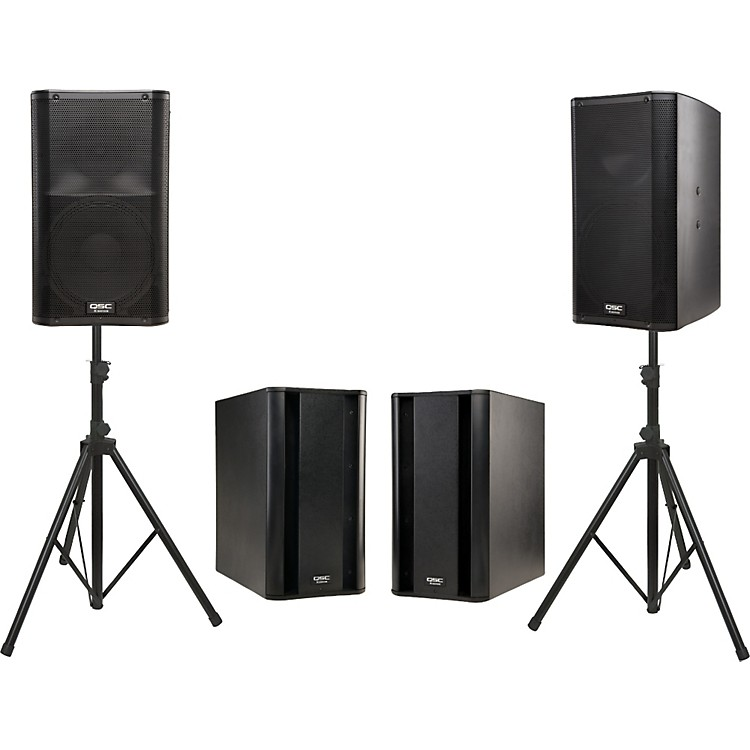 QSC K12 Powered Speaker Dual Sub Package