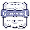 D'Addario K400H Kaplan Golden Spiral 4/4 Size Violin Heavy E String with Loop End  Thumbnail