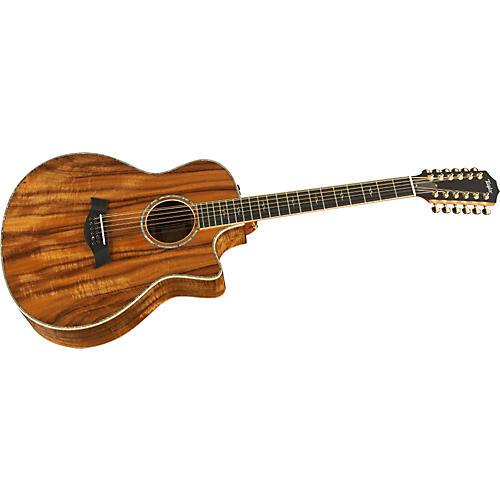 Taylor K66CE-L Koa Grand Symphony 12 String Left-Handed Acoustic-Electric Guitar