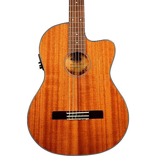 kala ka gtr mtn e thinline mahogany nylon string acoustic electric guitar musician 39 s friend. Black Bedroom Furniture Sets. Home Design Ideas