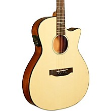 Kala KA-GTR-MTN-E Thinline Nylon String Acoustic-Electric Guitar