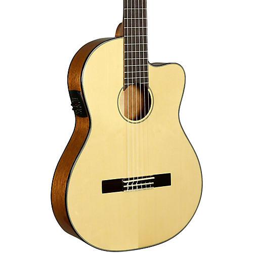 Kala KA-GTR-SMTN-E Thinline Nylon String Acoustic-Electric Guitar-thumbnail