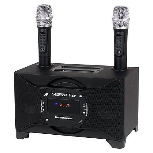 VocoPro KARAOKEDUAL All-In-One Karaoke Boom Box with Wireless Mics-thumbnail