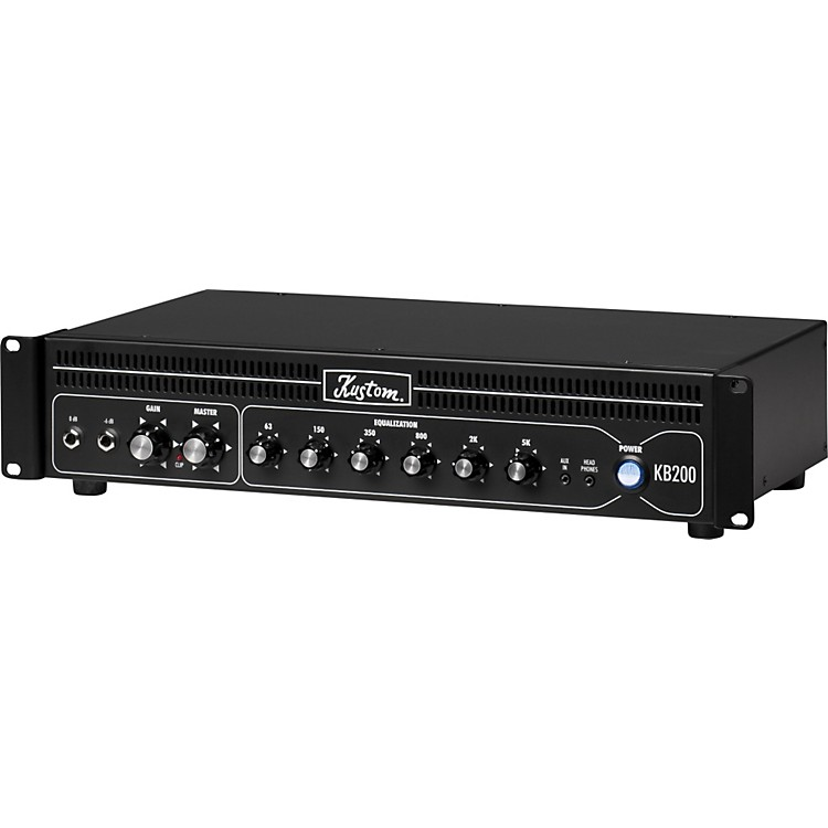 Kustom KB200HR 200W Rackmount Bass Amp Head Black