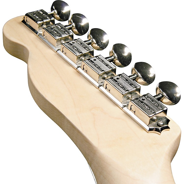 Kluson KF6B F-Style Guitar Tuning Machines - 6-in-Line Bolt Bushing Nickel