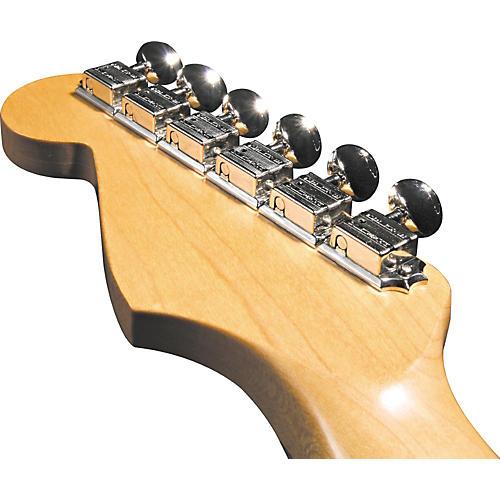 Kluson KF6BL F-Style Locking Guitar Tuning Machines - 6-In-line Bolt Bushing