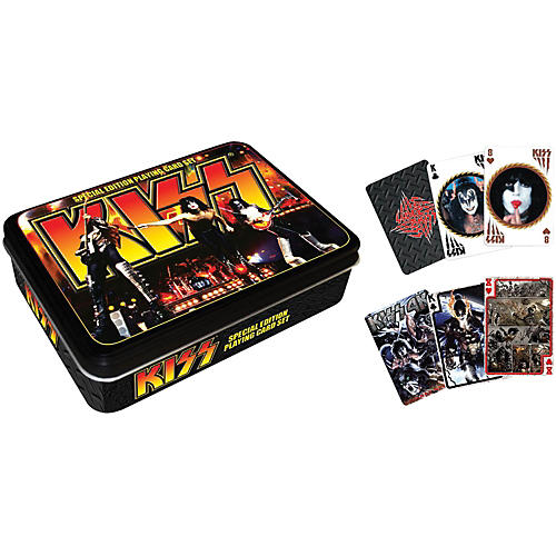 Hal Leonard KISS Playing Cards 2-Deck Set Gift Tin