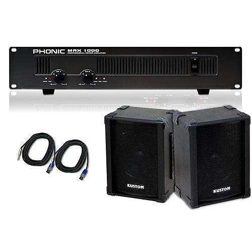 Kustom PA KPC10 / Phonic MAX 1000 Spkr & Amp Package