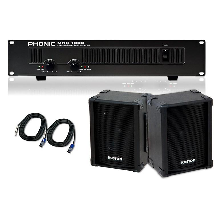 KustomKPC10 / Phonic MAX 1000 Spkr & Amp Package