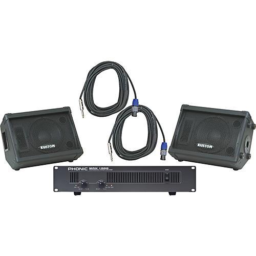 Kustom PA KPC10M / Phonic MAX 1000 Spkr & Amp Package