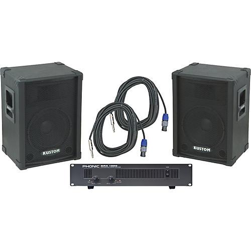 Kustom PA KPC12 / Phonic MAX 1000 Spkr & Amp Package-thumbnail