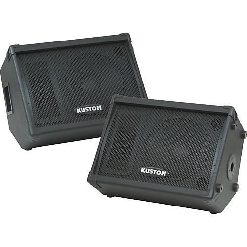 Kustom KPC12M 12IN Monitor Speaker Cab with Horn Pair