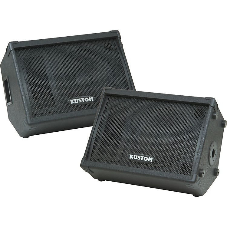 KustomKPC12M 12IN Monitor Speaker Cab with Horn Pair