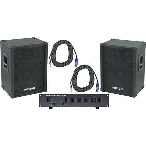 Kustom PA KPC15 / Phonic MAX 1000 Spkr & Amp Package