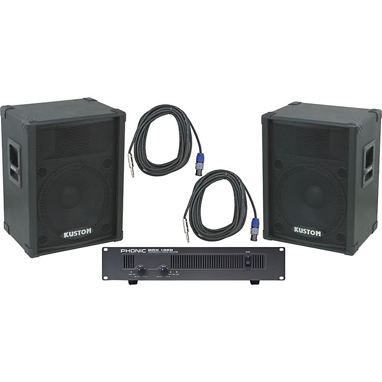 KustomKPC15 / Phonic MAX 1000 Spkr & Amp Package