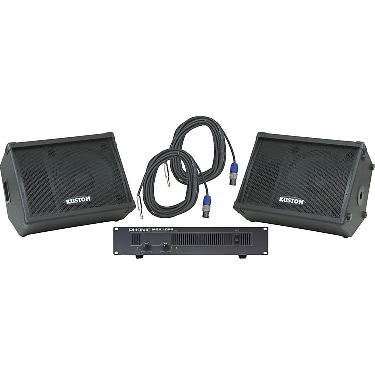 KustomKPC15M / Phonic MAX 1000 Spkr & Amp Package