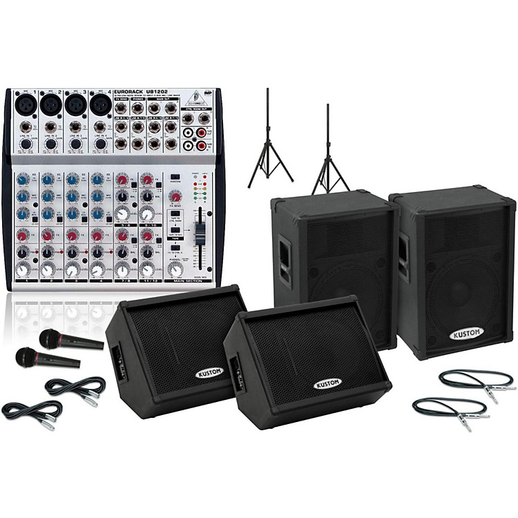Kustom KPC15P / UB1202 Mains & Monitors Package