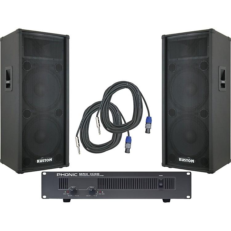 KustomKPC215H / Phonic MAX 1600 Spr & Amp Package