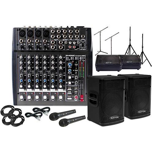 Kustom PA KPX115 with Phonic Powerpod 820 and 10