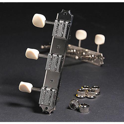 Kluson KR3 Keystone Guitar Tuning Machines - 3 On a Rail Nickel