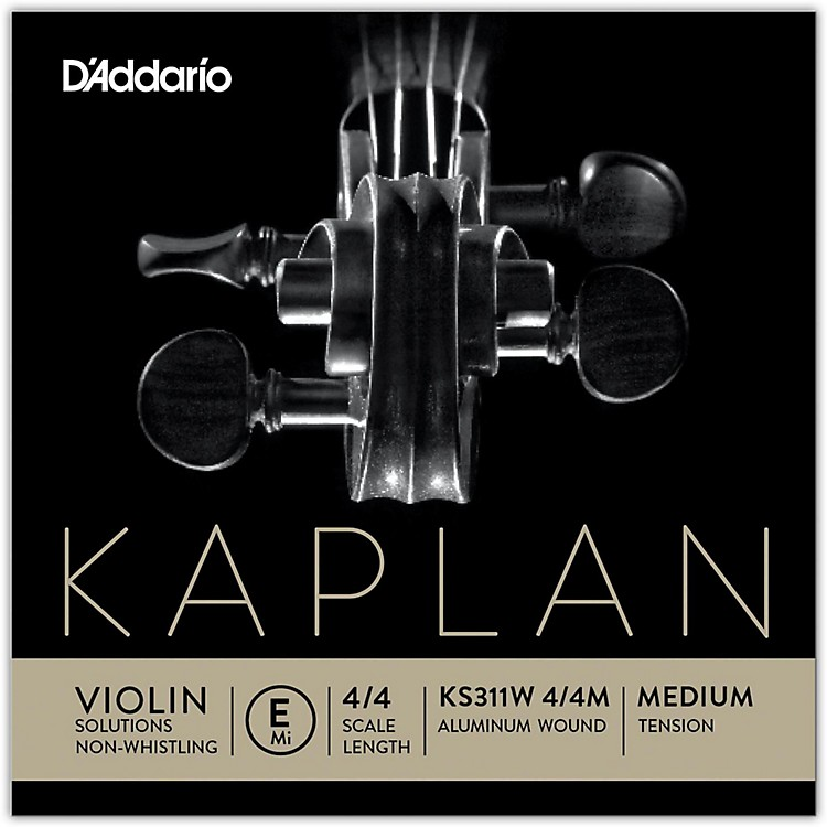 D'AddarioKS 311W Kaplan Solutions 4/4 Size Non-Whistling Violin E String (Wound)