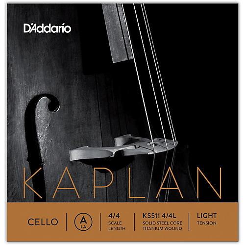 D'Addario KS511 Kaplan Solutions 4/4 Size Cello A String 4/4 Size Light