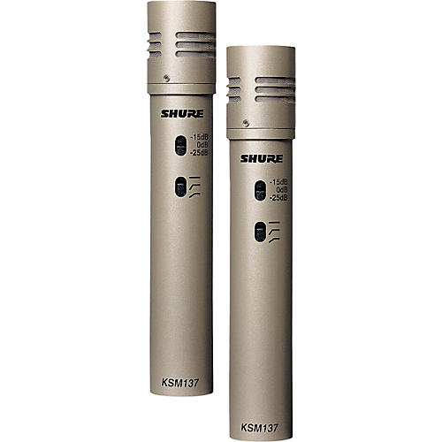 Shure KSM137/SL STEREO Cardioid Condenser (Stereo Pair) CHAMPAGNE