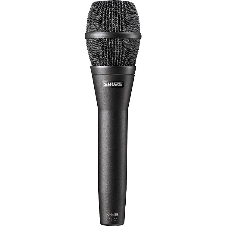 Shure KSM9 Dual Diaphragm Performance Condenser Microphone Charcoal Gray