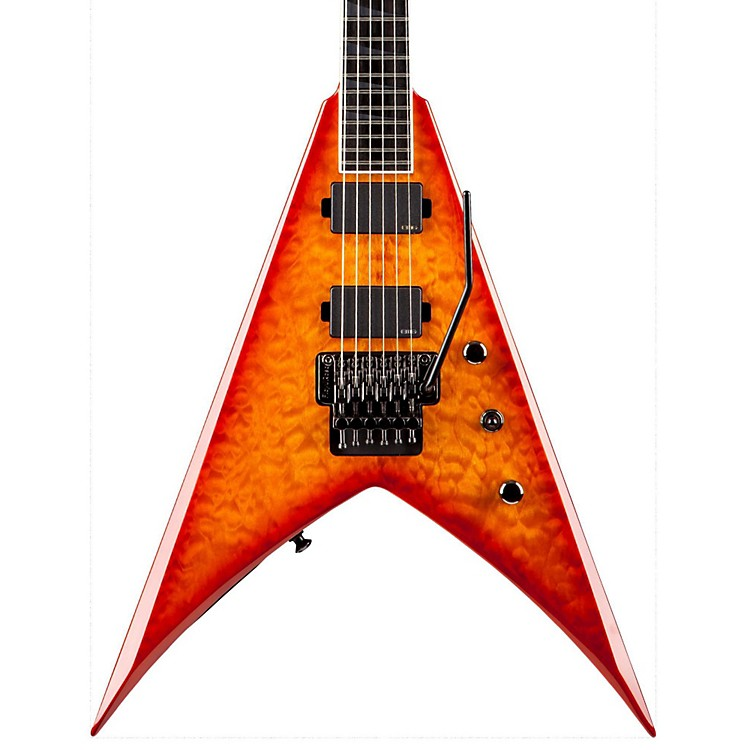 Jackson KVMG Pro V King Quilt Maple Electric Guitar Amber Sunburst