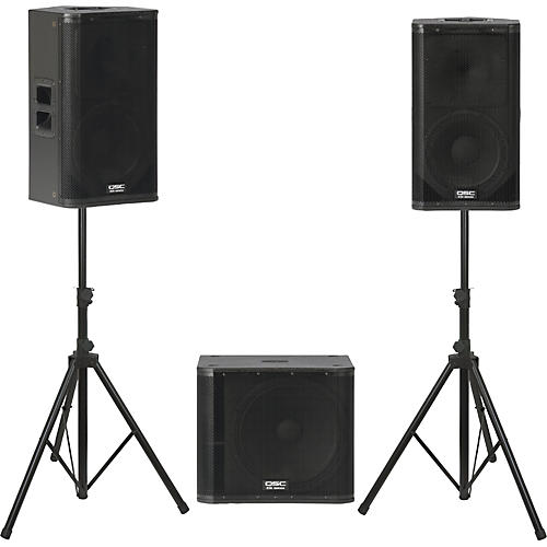 QSC KW122 /  KW181 Powered Speaker Package