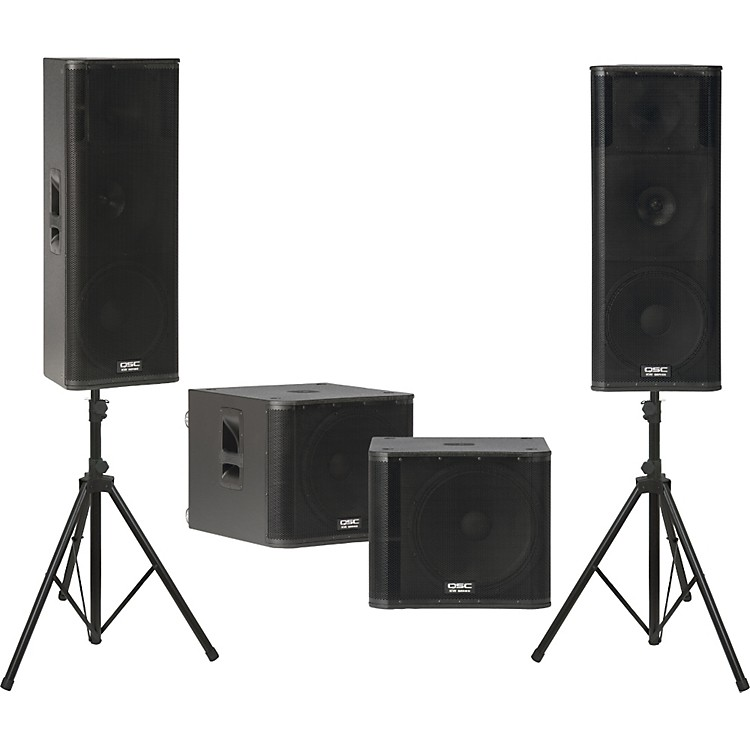 QSCKW153 /  KW181 Powered Speaker Dual Sub Package